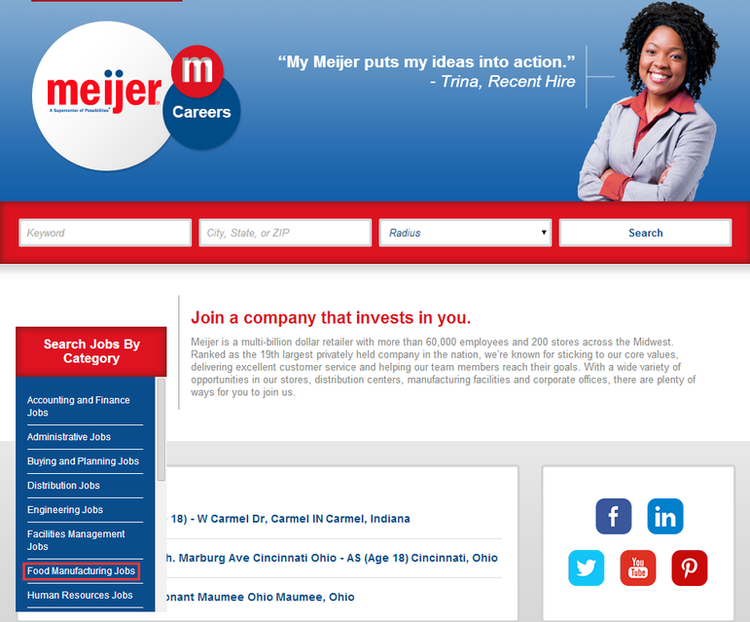 apply Meijer online step 1