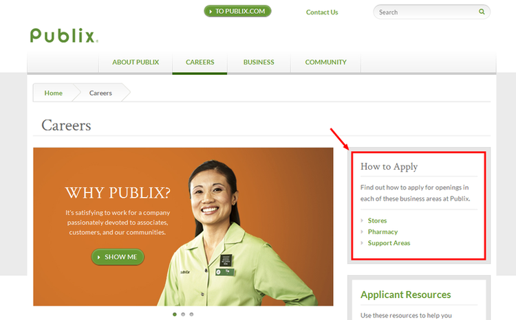 apply Publix online step 1