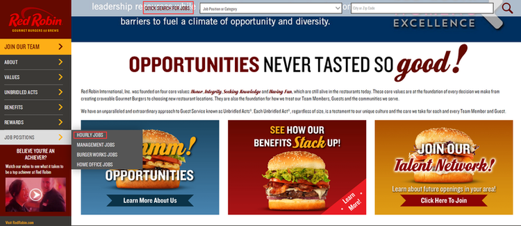 apply Red Robin online step 1