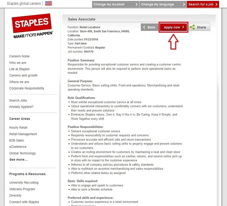 How To Apply For Staples Jobs Online At Staples.Com/Jobs