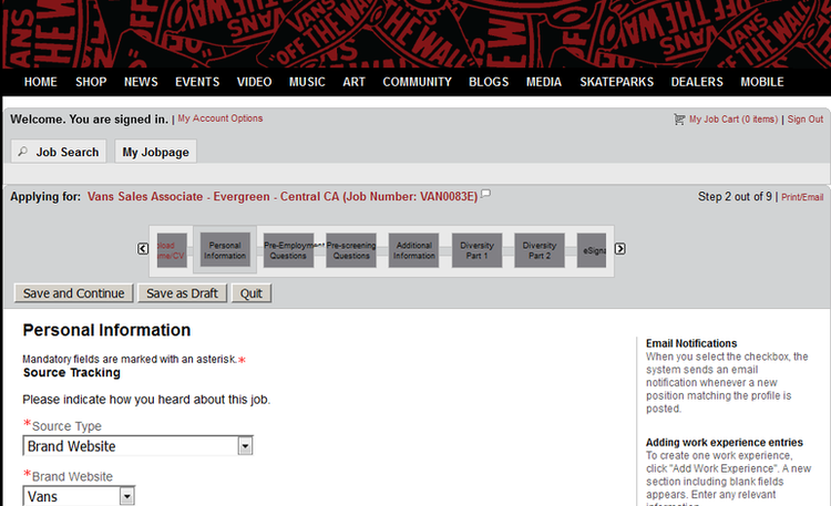 How to Apply for Vans Jobs Online at vans.com/careers