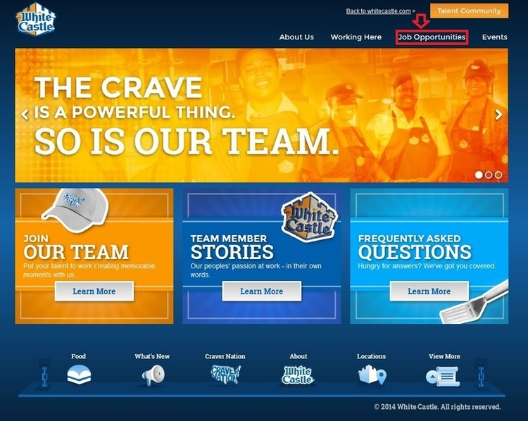 apply White Castle online step 1