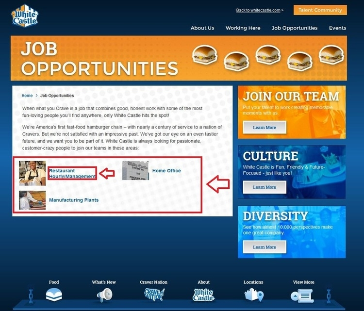 apply White Castle online step 2