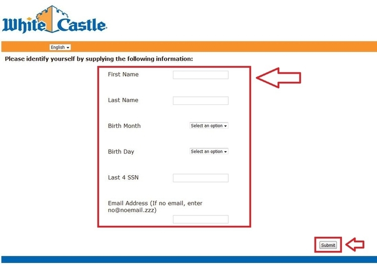 apply White Castle online step 3