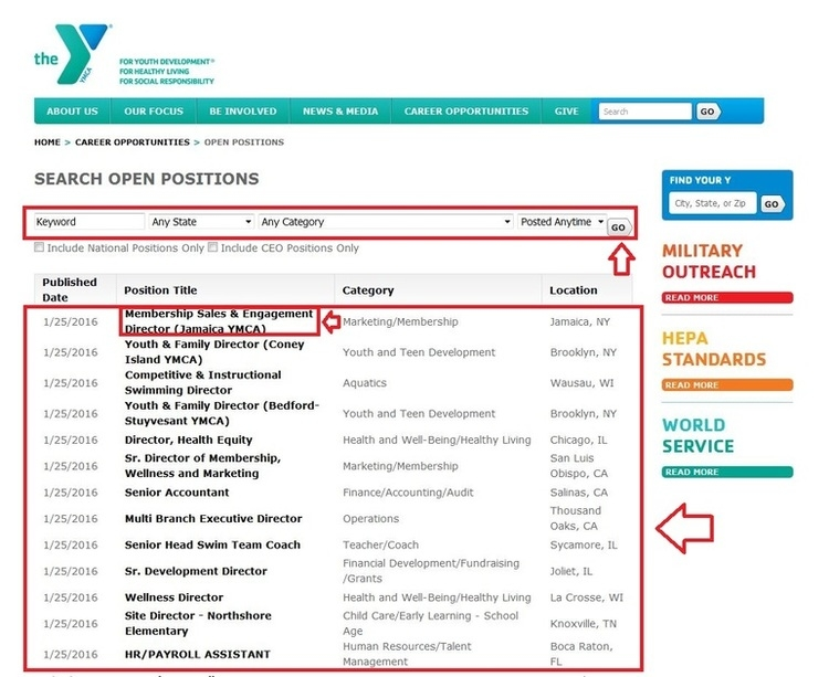 apply YMCA online step 2