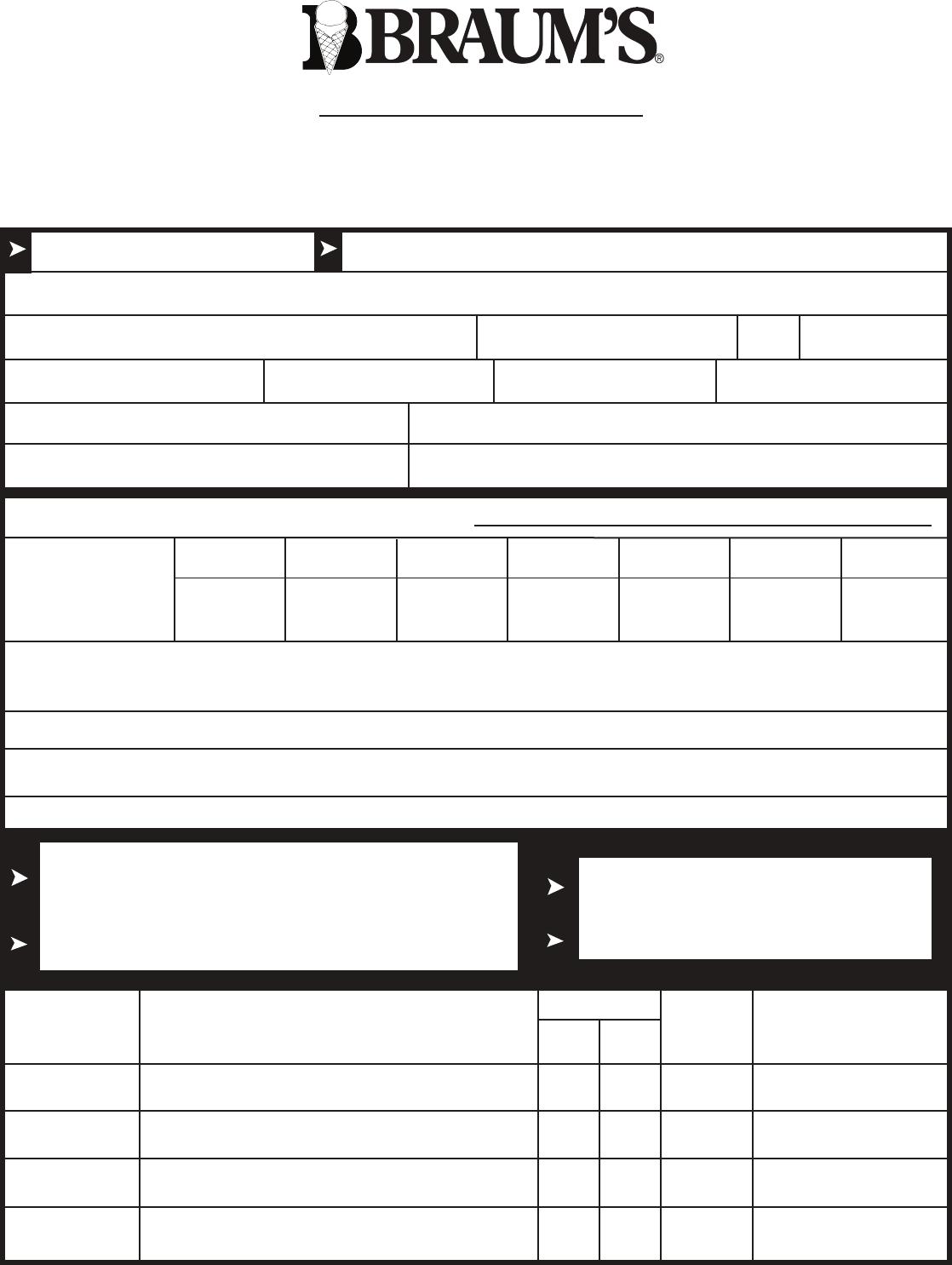 Free printable braums job application form falaconquin