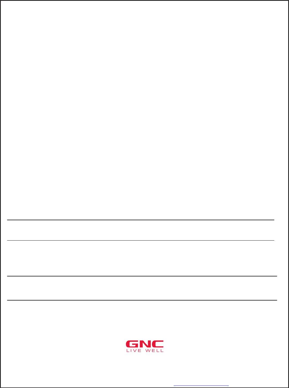 Free Printable GNC Job Application Form Page 9