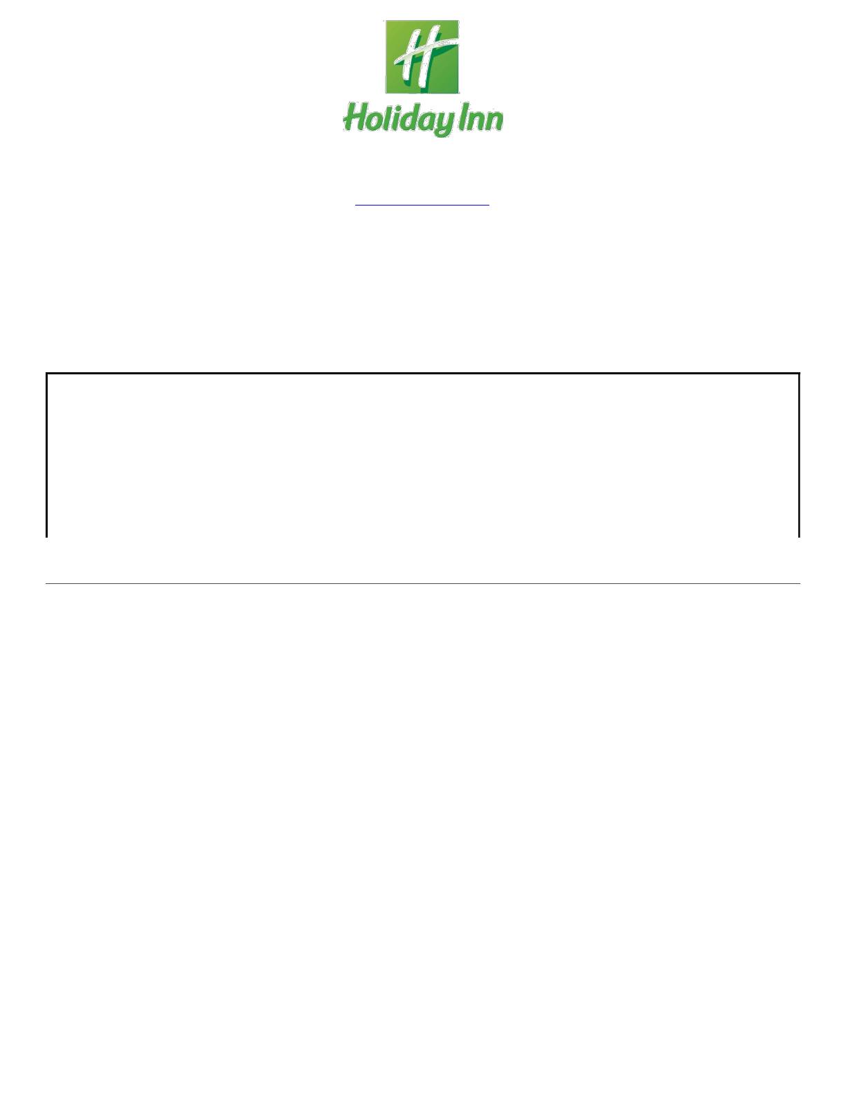 Free Printable Holiday Inn Job Application Form