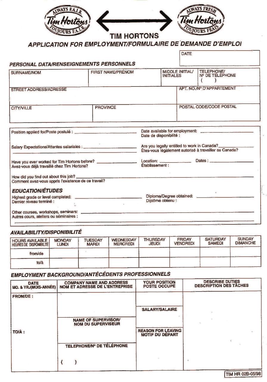Free Printable Home Depot Job Application Form Page 10