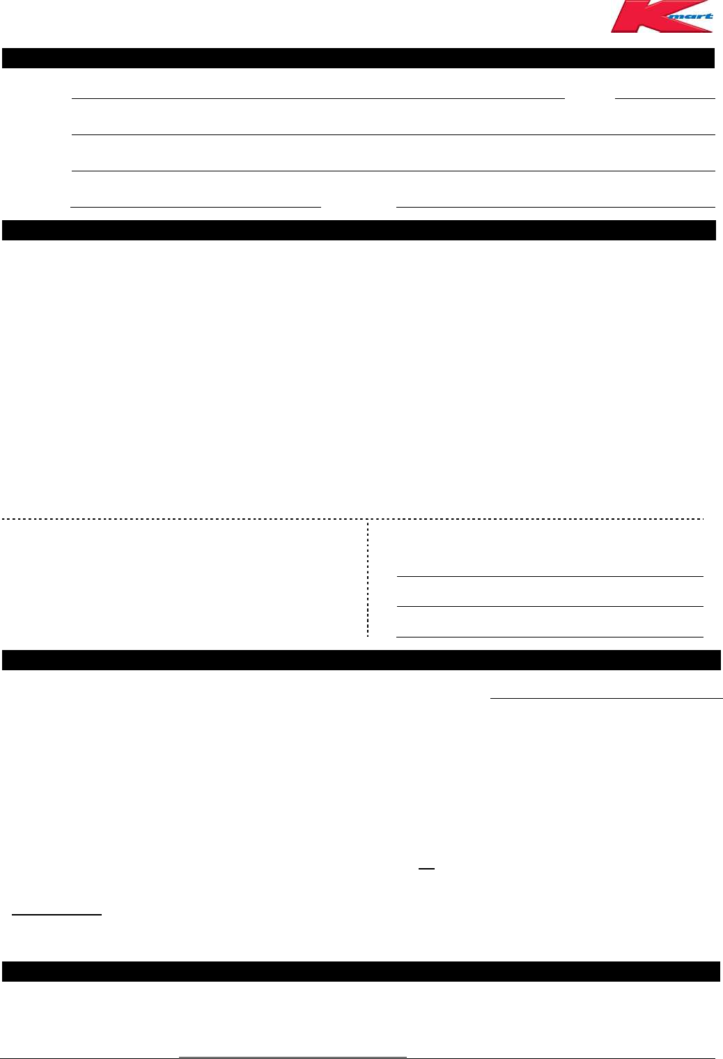 Free printable kmart job application form falaconquin