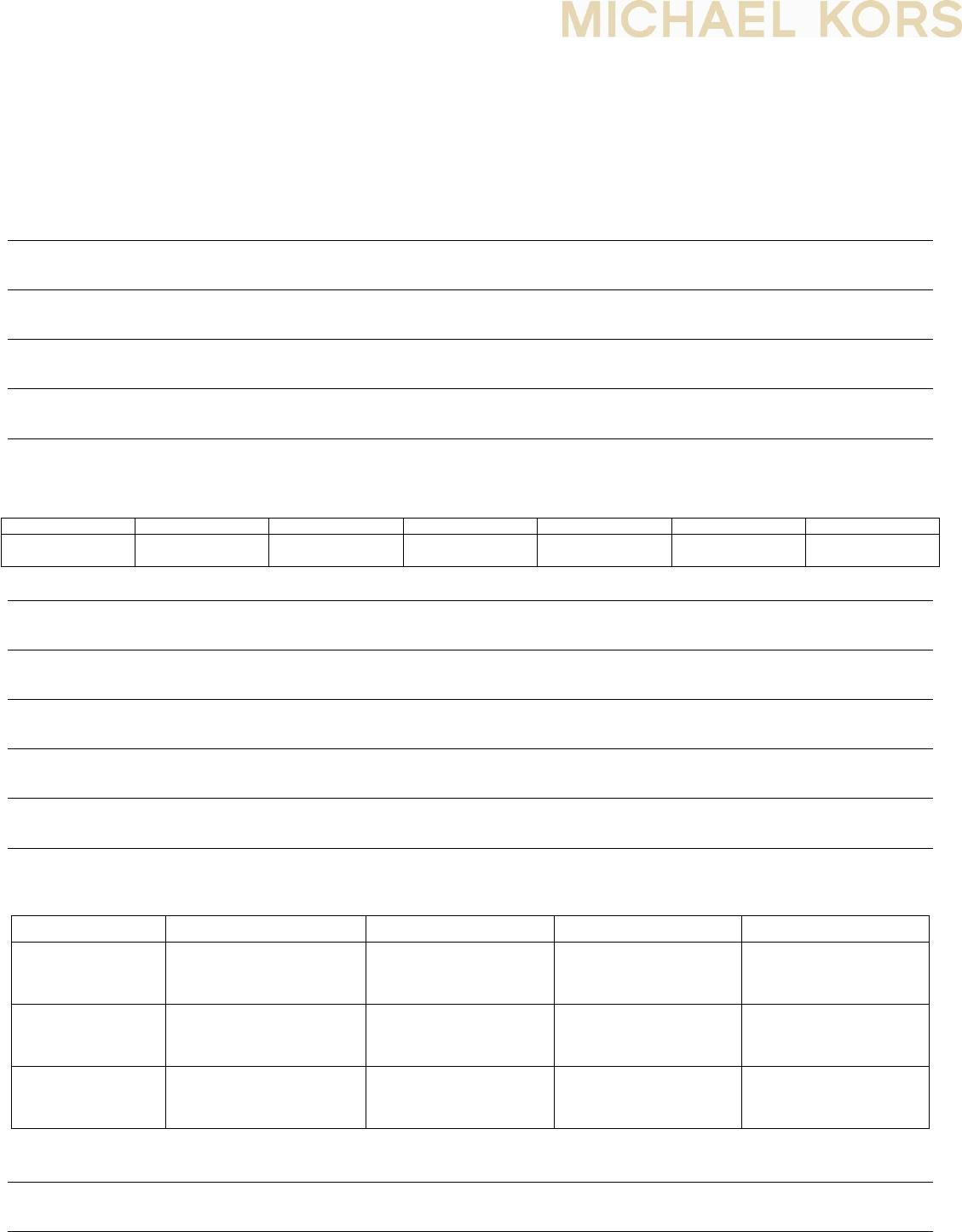 Free printable michael kors job application form falaconquin