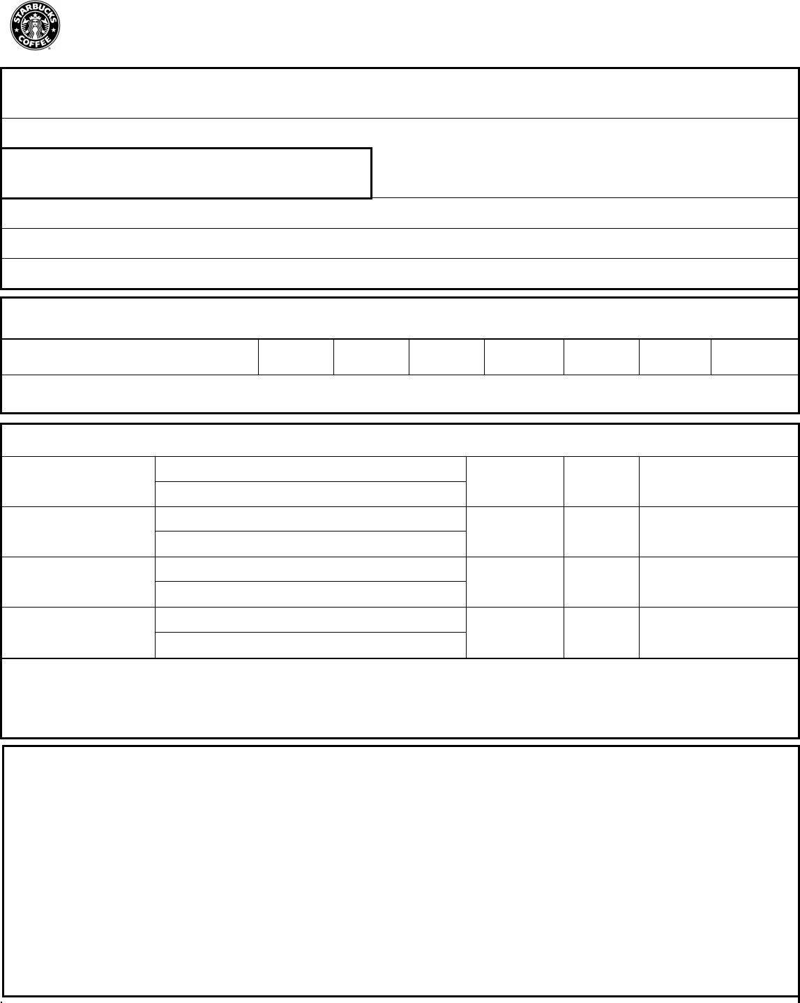 Free printable starbucks job application form falaconquin