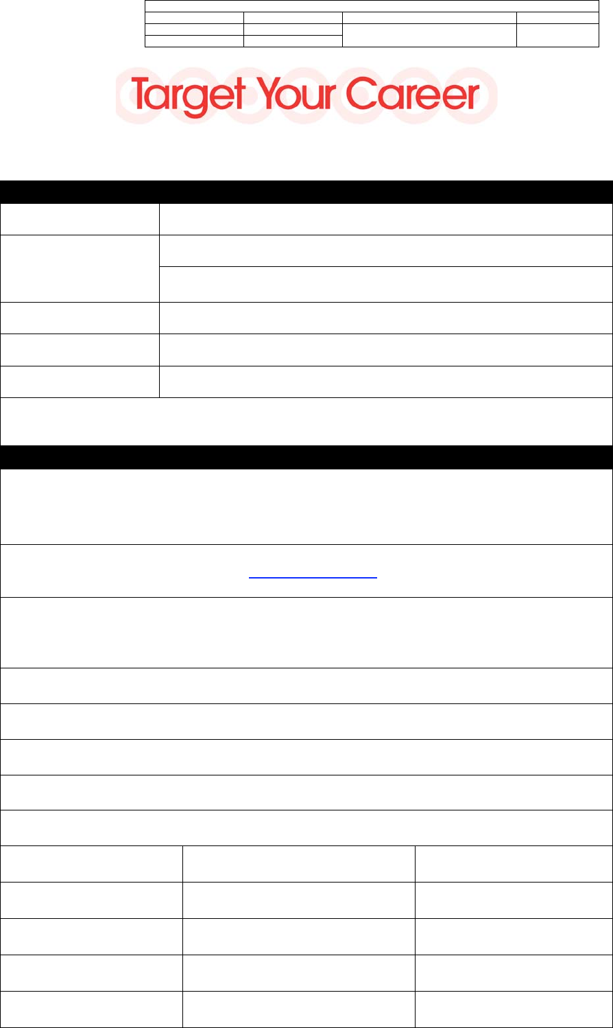 Free Printable Target Job Application Form