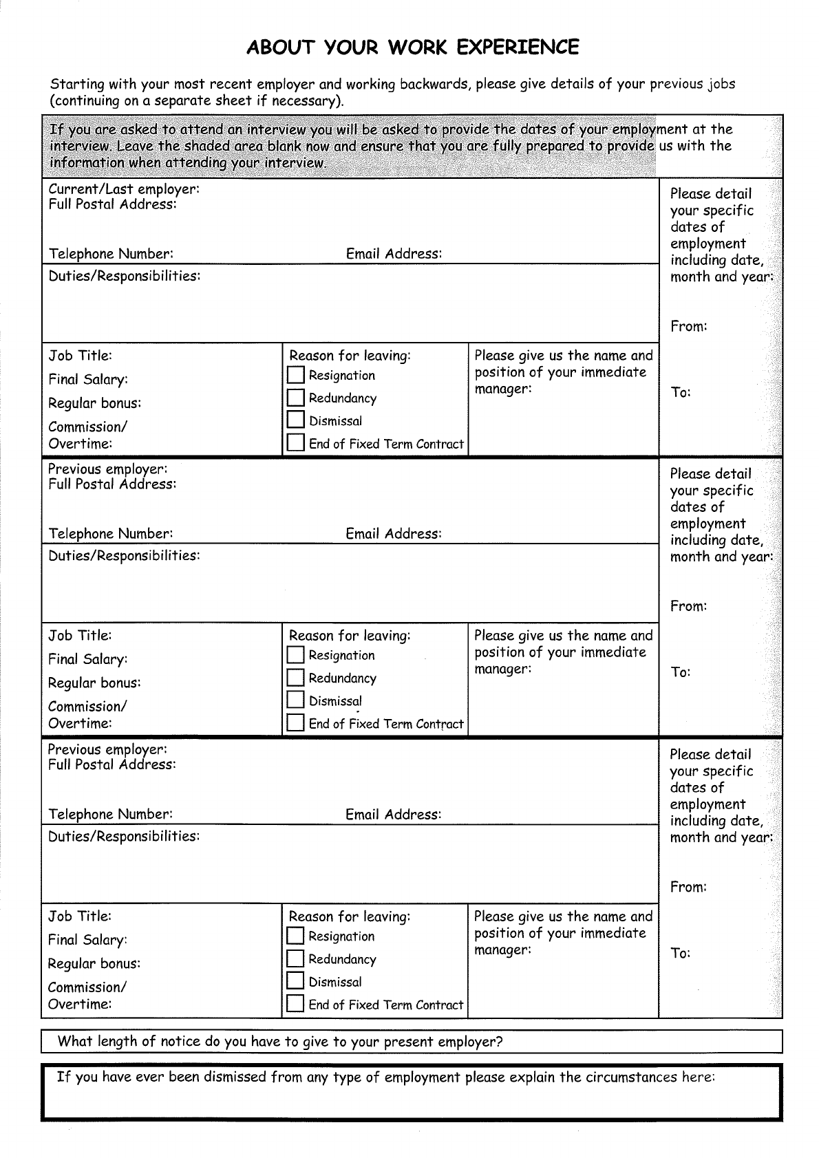 Free Printable Toys R Us Job Application Form Page 3