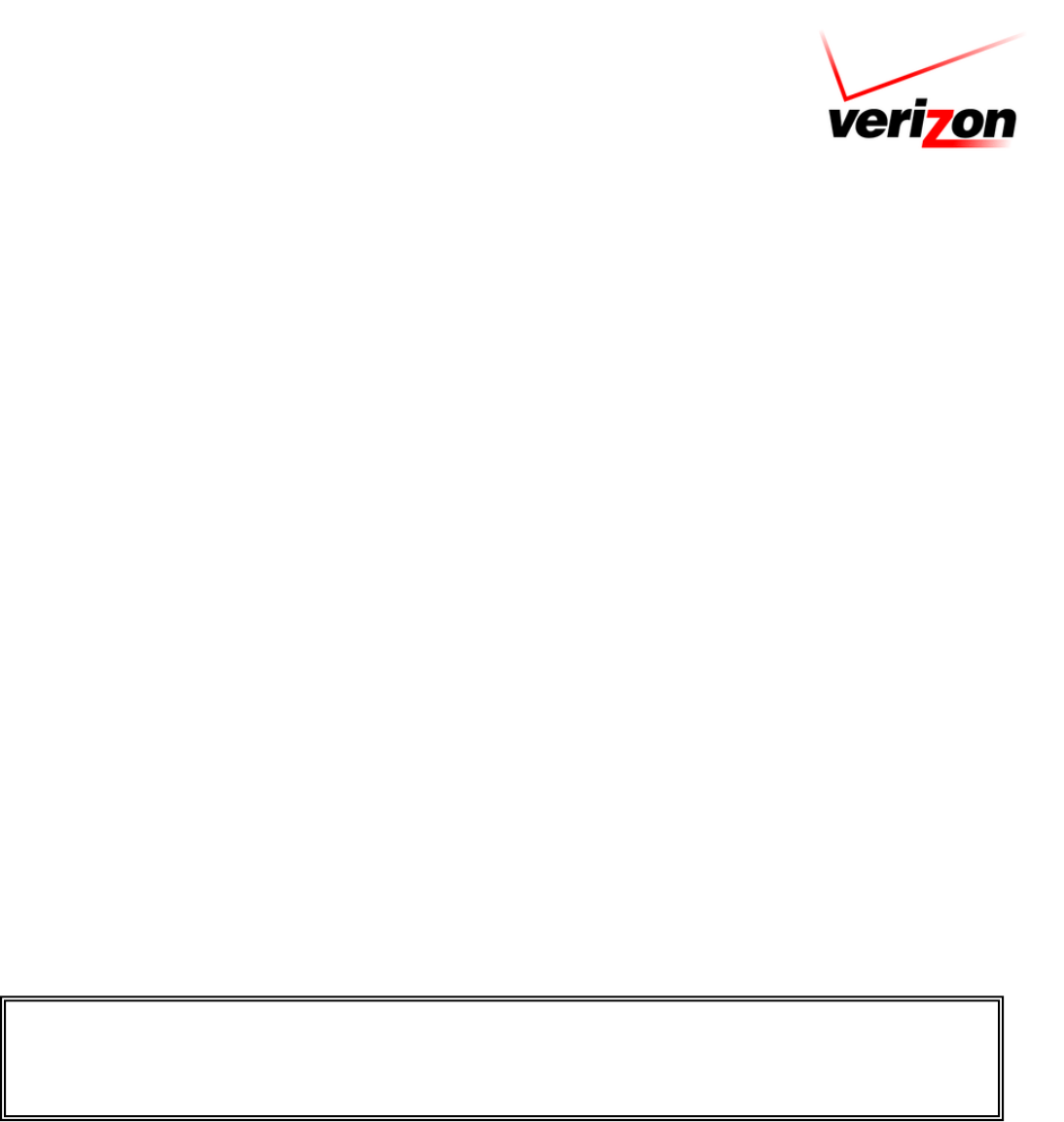 Free Printable Verizon Job Application Form