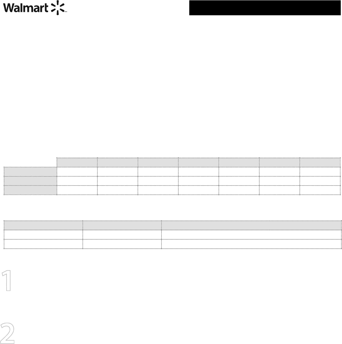Free Printable Walmart Job Application Form