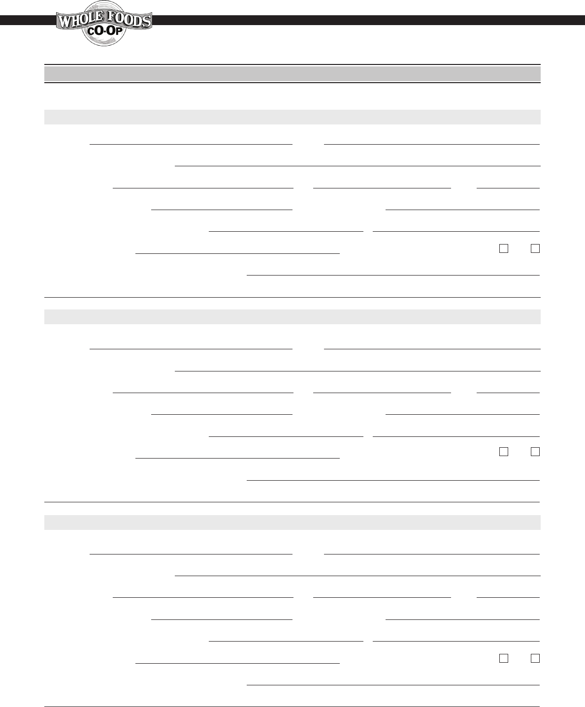 Free printable whole foods job application form page 4 falaconquin