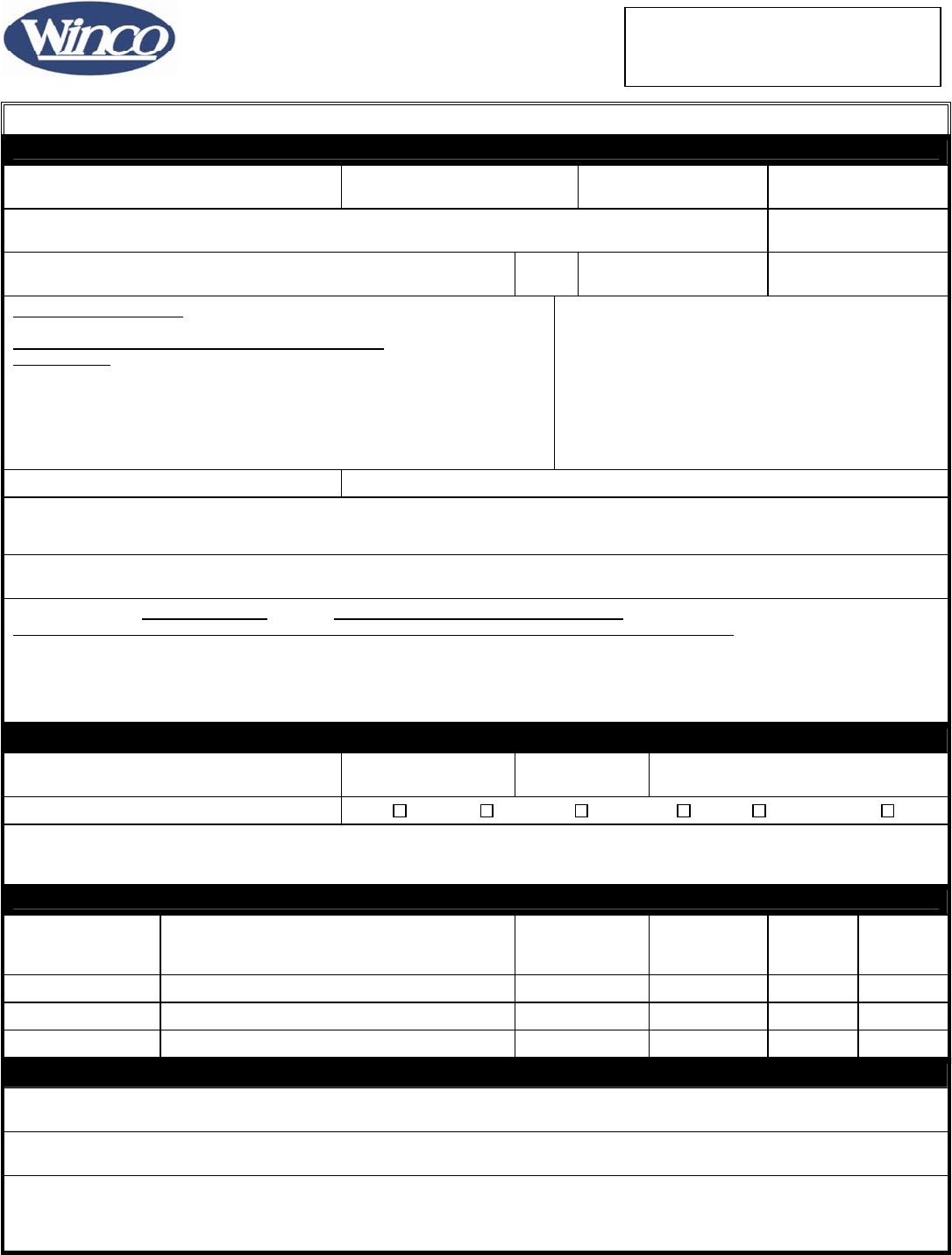Free printable winco foods job application form falaconquin