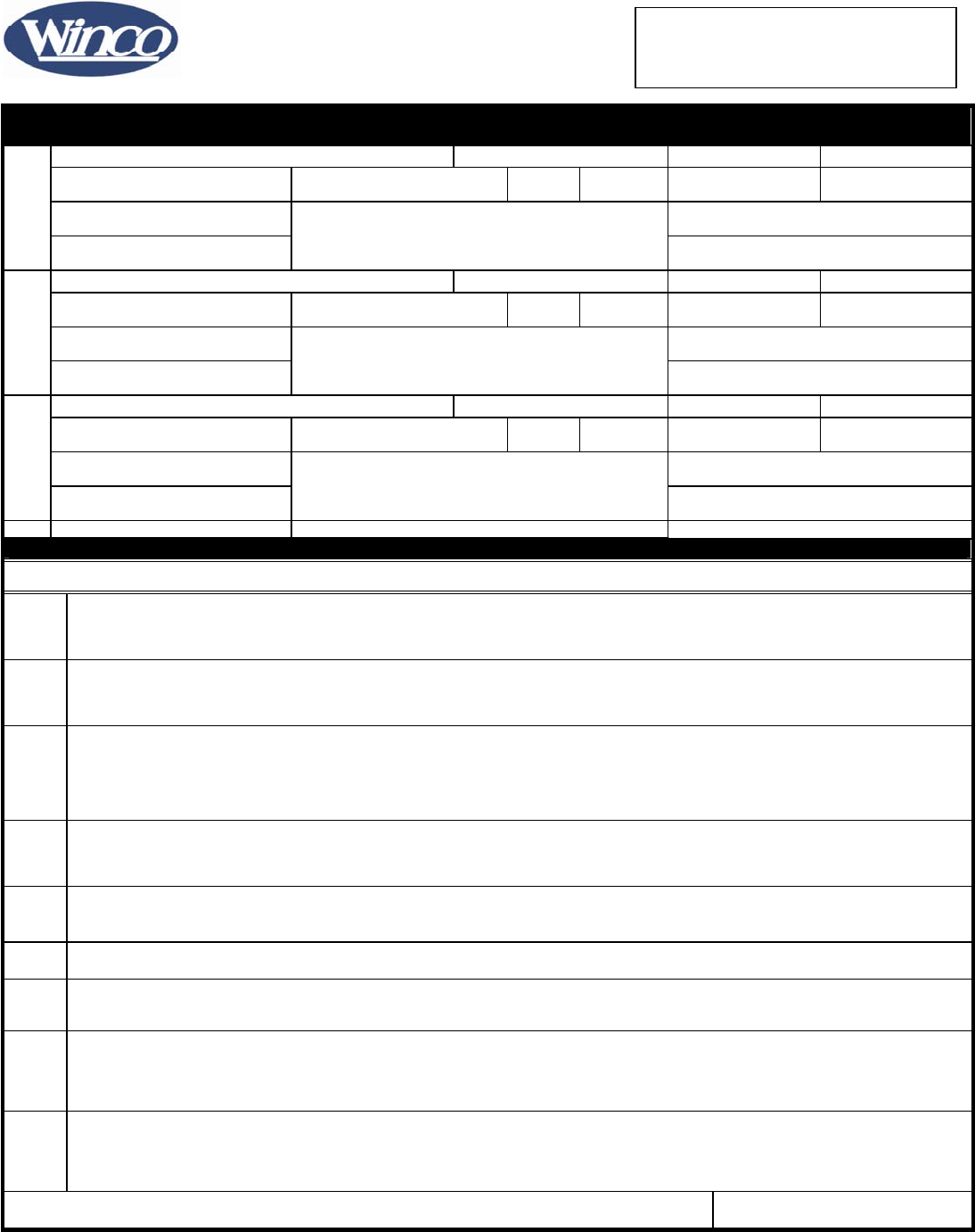 Free printable winco foods job application form page 2 falaconquin