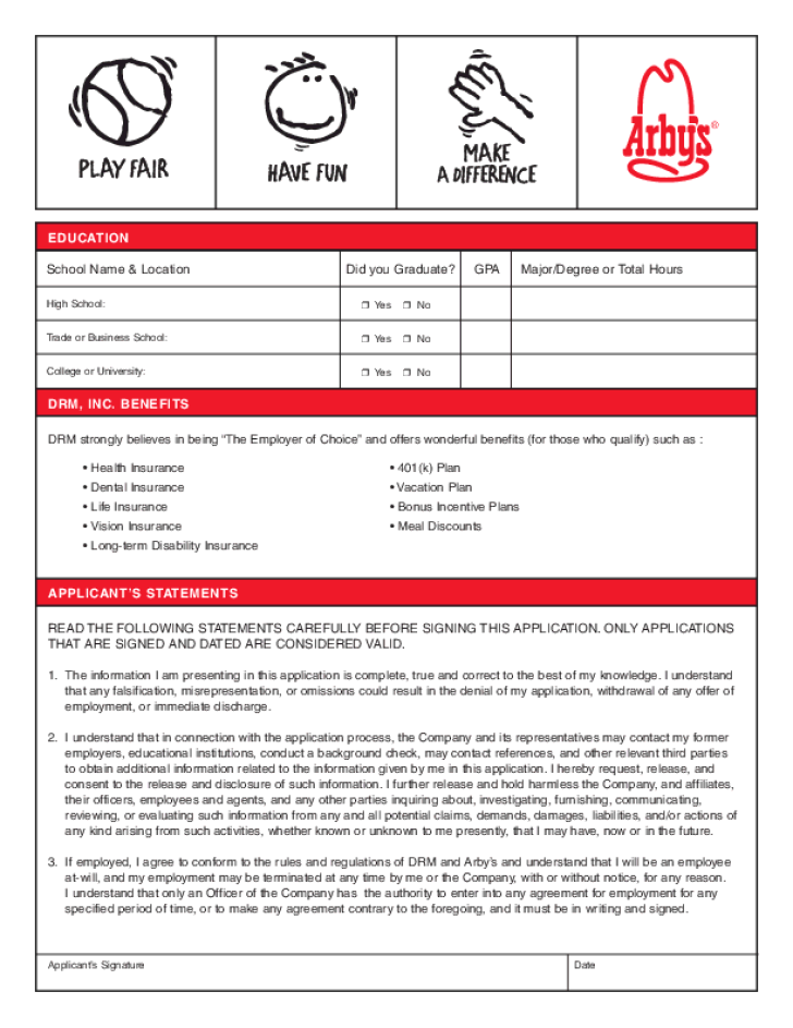 arbys-application-form-l3 Job Application Form For Ross on free generic, part time, blank generic,