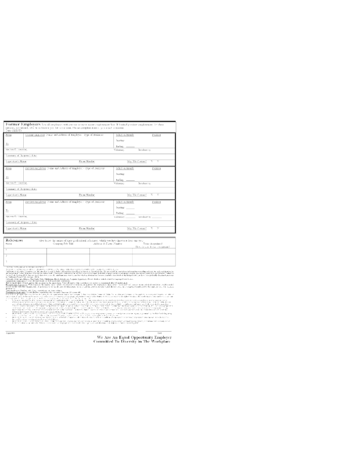 Free Printable Barnes & Noble Job Application Form Page 2