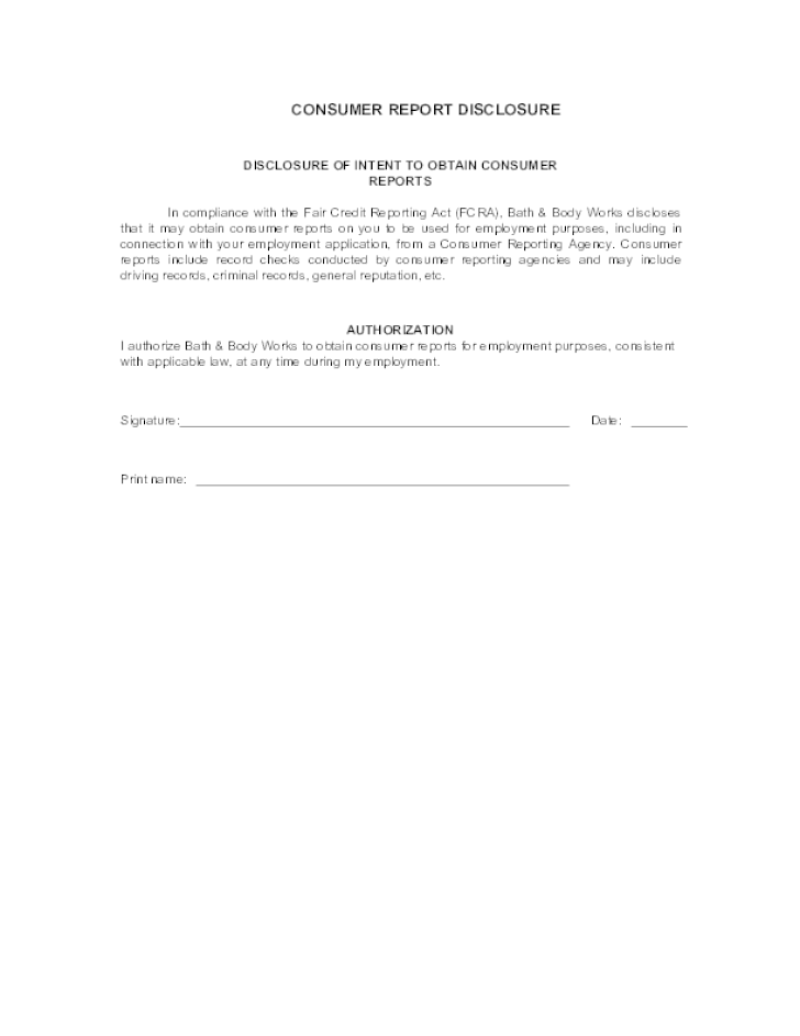Free Printable Bath And Body Works Job Application Form Page 3 – General Job Applications