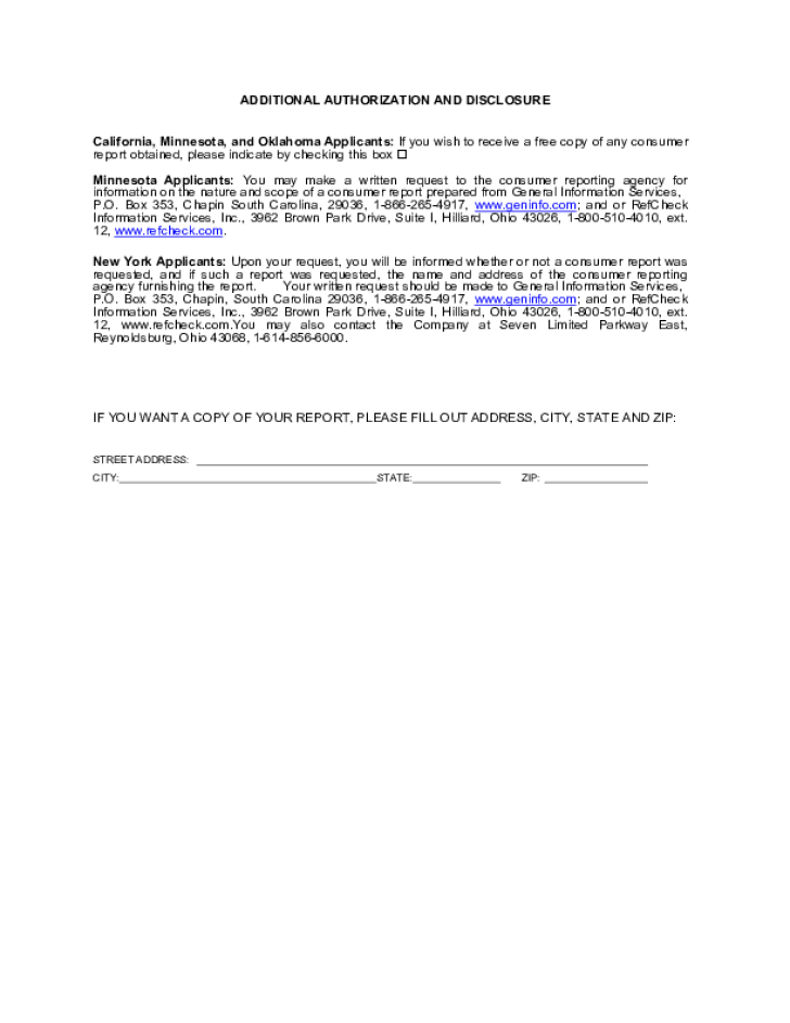 Free Printable Bath And Body Works Job Application Form Page 4