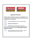 Checkers Drive-In Application Form Page2