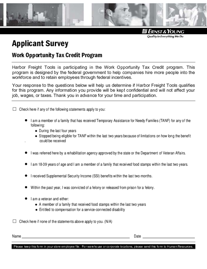 Free Printable Harbor Freight Job Application Form Page 7