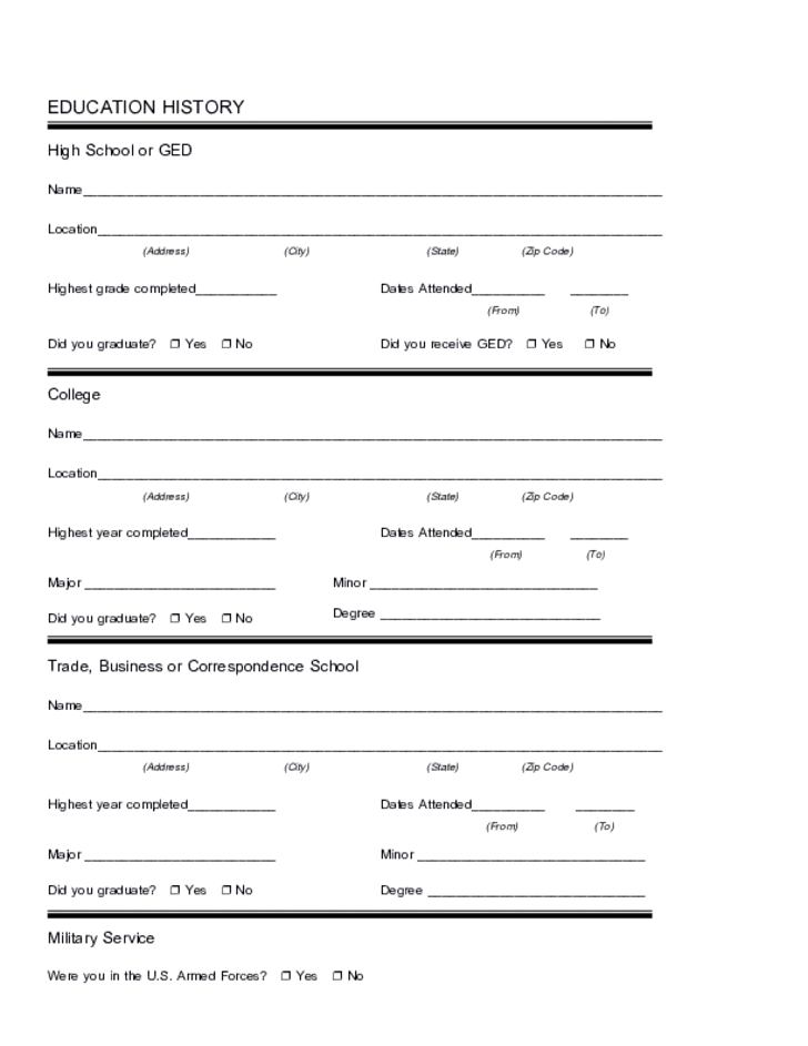 Free Printable Holiday Inn Job Application Form Page 3