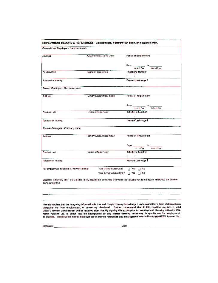 Free Printable Home Depot Job Application Form Page 7