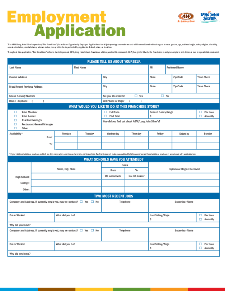 long-john-silvers-application-form-l1 Target Online Job Application Form on apply target, taco bell, pizza hut, olive garden, print out,