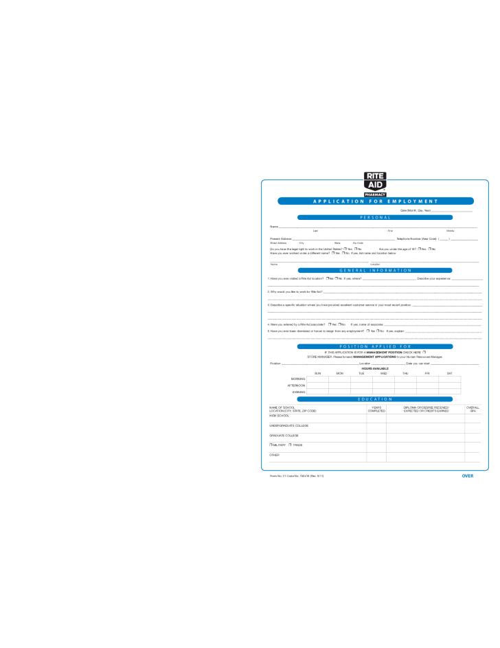 rite-aid-application-form-l1 Job Application Form Little Caesars on team member, pizza printable, store management, crew member, lynchburg va job, print out form, apply online,