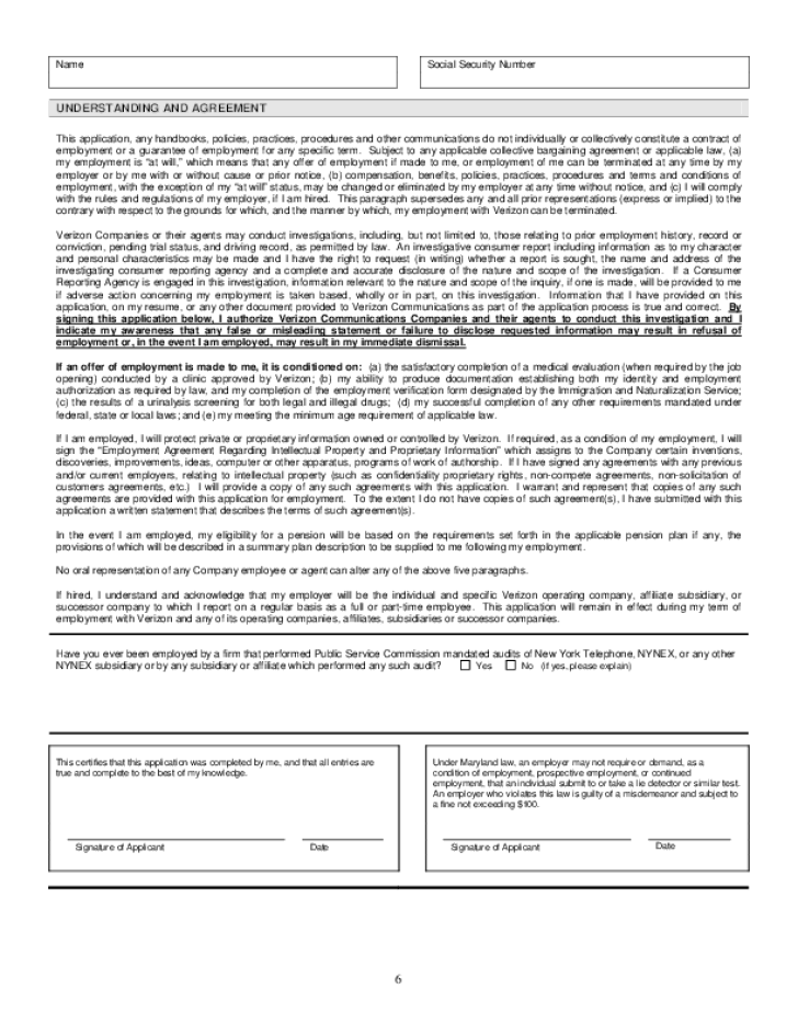 Free printable verizon job application form page 8 - Dollar general careers express hiring ...