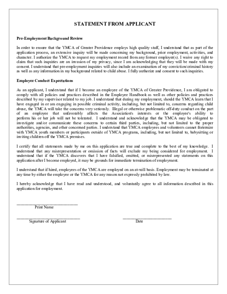 YMCA Application Form Page4