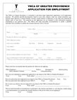 YMCA Application Form