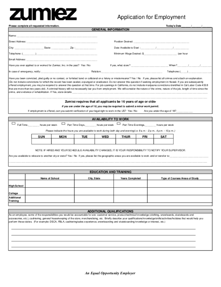 Job Application Printable Solarfm
